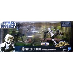 Speeder bike with scout trooper