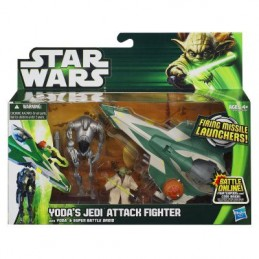 Star Wars Yoda's jedi attack fighter with Yoda & Super Battle Droid