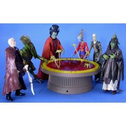 Star Wars saga gold Geonosian war room set of 2
