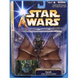 Star Wars Saga Gold Ewok with Attack Glider (Assault on Endor)