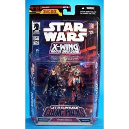 Star Wars 30th Baron Soontir Fel & Hobbie Klivian ( X-Wing Rogue Squadron)
