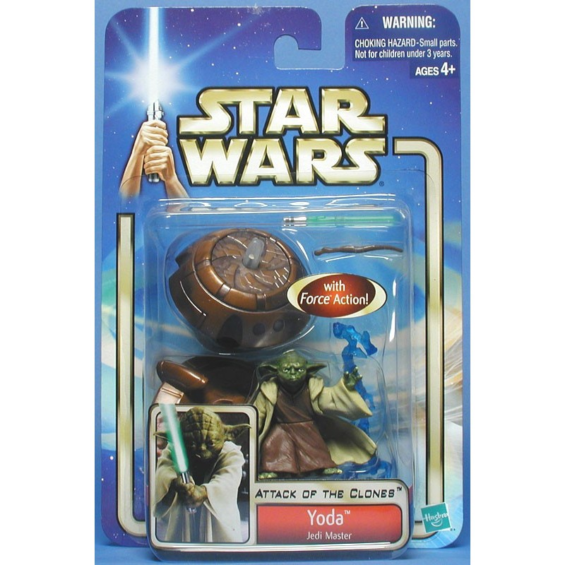 STAR WARS AOTC YODA JEDI MASTER WITH FORCE ACTION COLLECTION 1