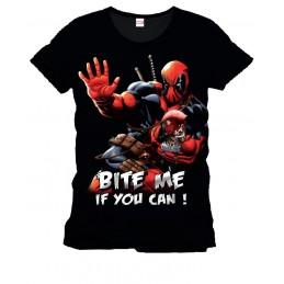 Deadpool T-Shirt Bite Me Large