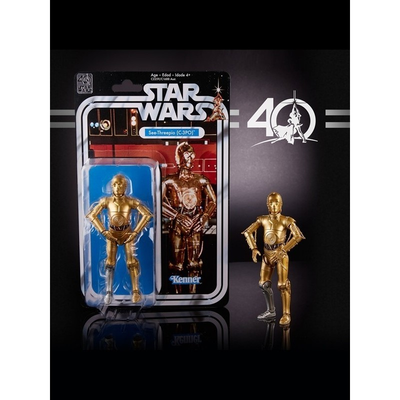 STAR WARS 6 Inch C-3PO 40th Anniversary Black Series Hasbro