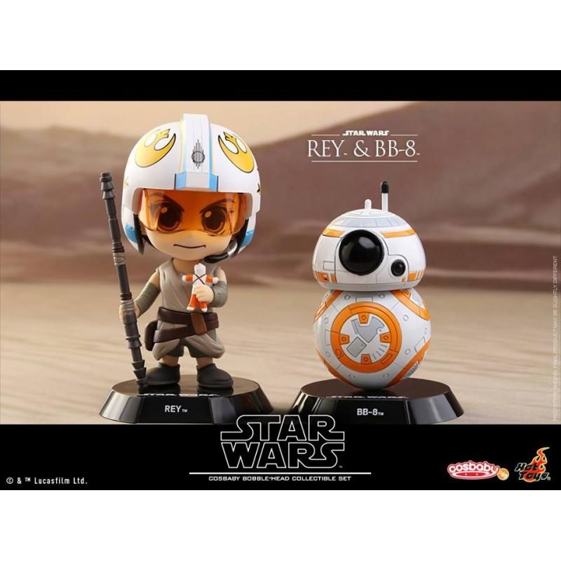 Hot Toys Cosbaby Star Wars Force Awakens Rey Luke Skywalker Figure