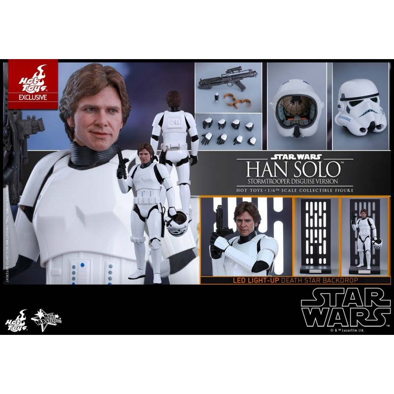 Star Wars Episode Iv A New Hope Han Solo Stormtrooper Disguise Version 1 6th Scale Collectible Figure