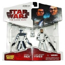 Captain Rex and Clone trooper Fives 2-pack