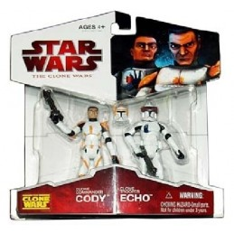 Clone commander Cody and Clone trooper Echo 2-pack