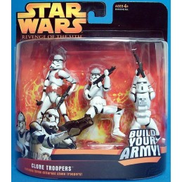Clone troopers includes three different clone troopers red version
