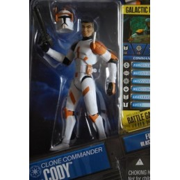 Clone commander Cody firing blaster rifle