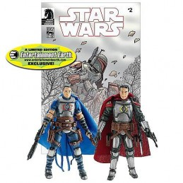 Jaster Mereel and Montross Jango Fett: Open Seasons n°2 comic book reprint and helmets for both figures