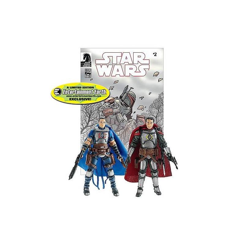 Jaster Mereel and Montross Jango Fett: Open Seasons n°2 comic book reprint and helmets for both figures