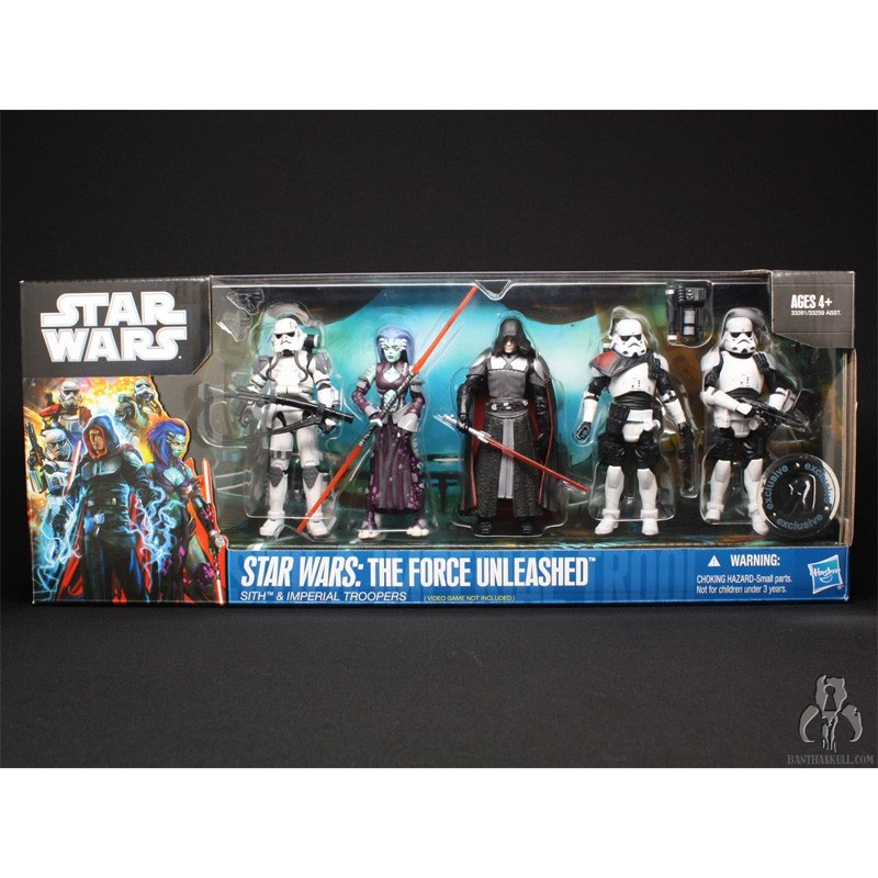 Star Wars The force unleashed Sith & Imperial troopers Toys'r'us exclusive