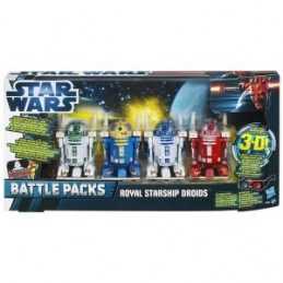 Star Wars Discover The Force 3-D Episode I Royal Starship Droids Battle Packs