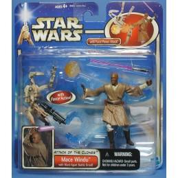 Mace Windu with blast-apart battle droid